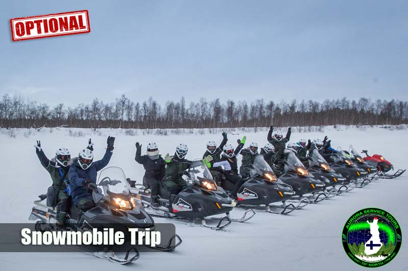 Snowmobile adventure in Lapland