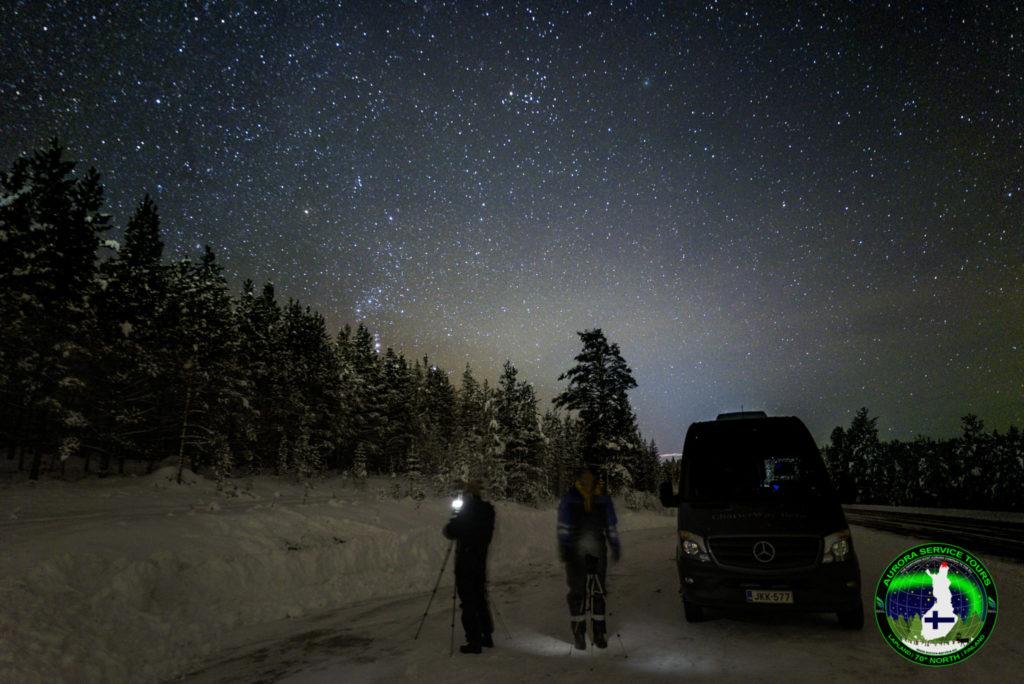 Starry skies in Northern Lapland
