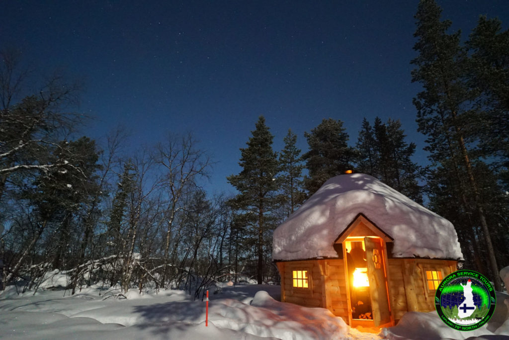 Sit around the fireplace waiting for the aurora borealis to show up