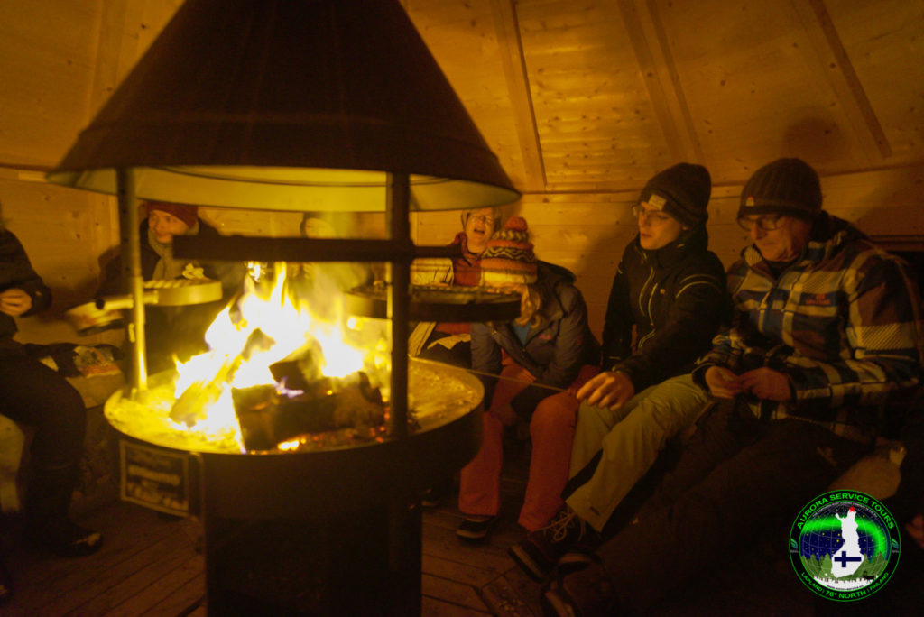 fire hut to warm up waiting for the aurora to show
