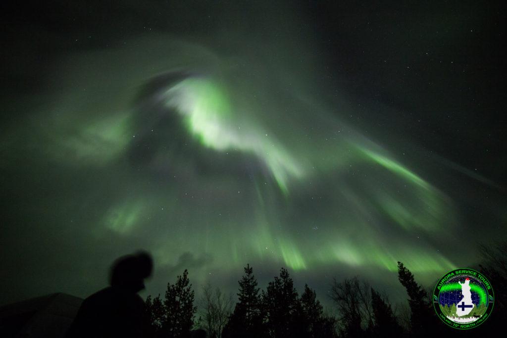 Amazing aurora over our Midgard site